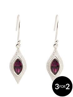 fiorelli-fiorelli-sterling-silver-swarovski-crystal-diamond-cut-earrings