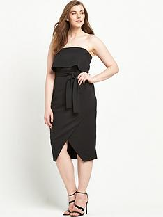 lavish-alice-curve-bandeau-cropped-tie-front-midi-dress