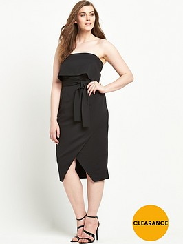 lavish-alice-curve-bandeau-cropped-tie-front-midi-dress