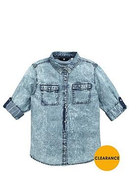 v-by-very-girls-acid-wash-denim-shirt