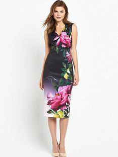 ted-baker-citrus-bloom-pleat-midi-dressnbsp