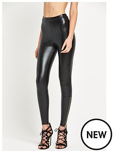 river-island-coated-zip-hem-legging