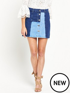 river-island-a-line-patchwork-denim-skirt