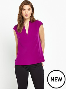 ted-baker-high-neck-long-back-panel-top-purple