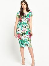 Print Scuba Bodycon Dress