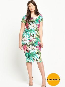 v-by-very-curve-print-scuba-bodycon-dress