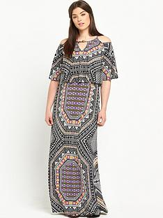 so-fabulous-cold-shoulder-print-maxi-dressnbsp