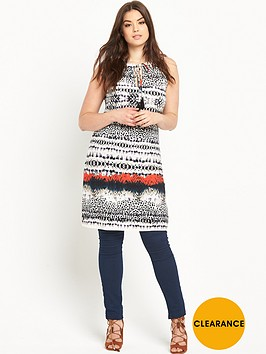 v-by-very-curve-tassel-tie-border-print-tunic-top