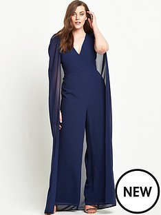 lavish-alice-curve-chiffon-cape-deep-plunge-wide-leg-jumpsuit