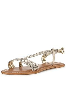 v-by-very-alba-woven-asymmetric-leather-sandal