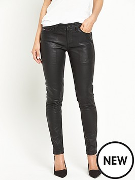 hilfiger-denim-skinny-leather-ankle-78-trouser-black