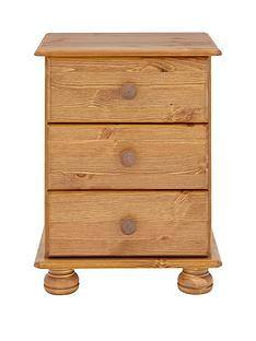richmond-solid-pine-3-drawer-bedside-cabinet