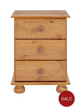 richmond-solid-pine-3-drawer-bedside-cabinet