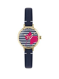 radley-radley-striped-dial-pink-dog-navy-leather-strap-ladies-watch