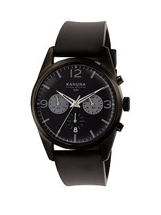 kahuna-kahuna-black-dial-chronograph-black-strap-mens-watch
