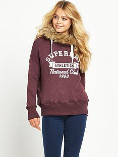superdry-appliqueacute-faux-fur-hood-sweat-top-rich-berry-marl