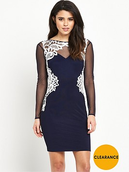 lipsy-michelle-keegan-mesh-long-sleeve-appliqueacutenbspdress