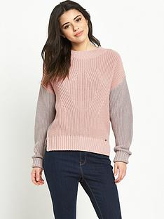 superdry-colour-block-rib-knit-jumper-dusty-pinkgrey