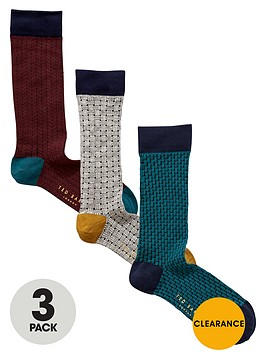 ted-baker-3pk-textured-sock