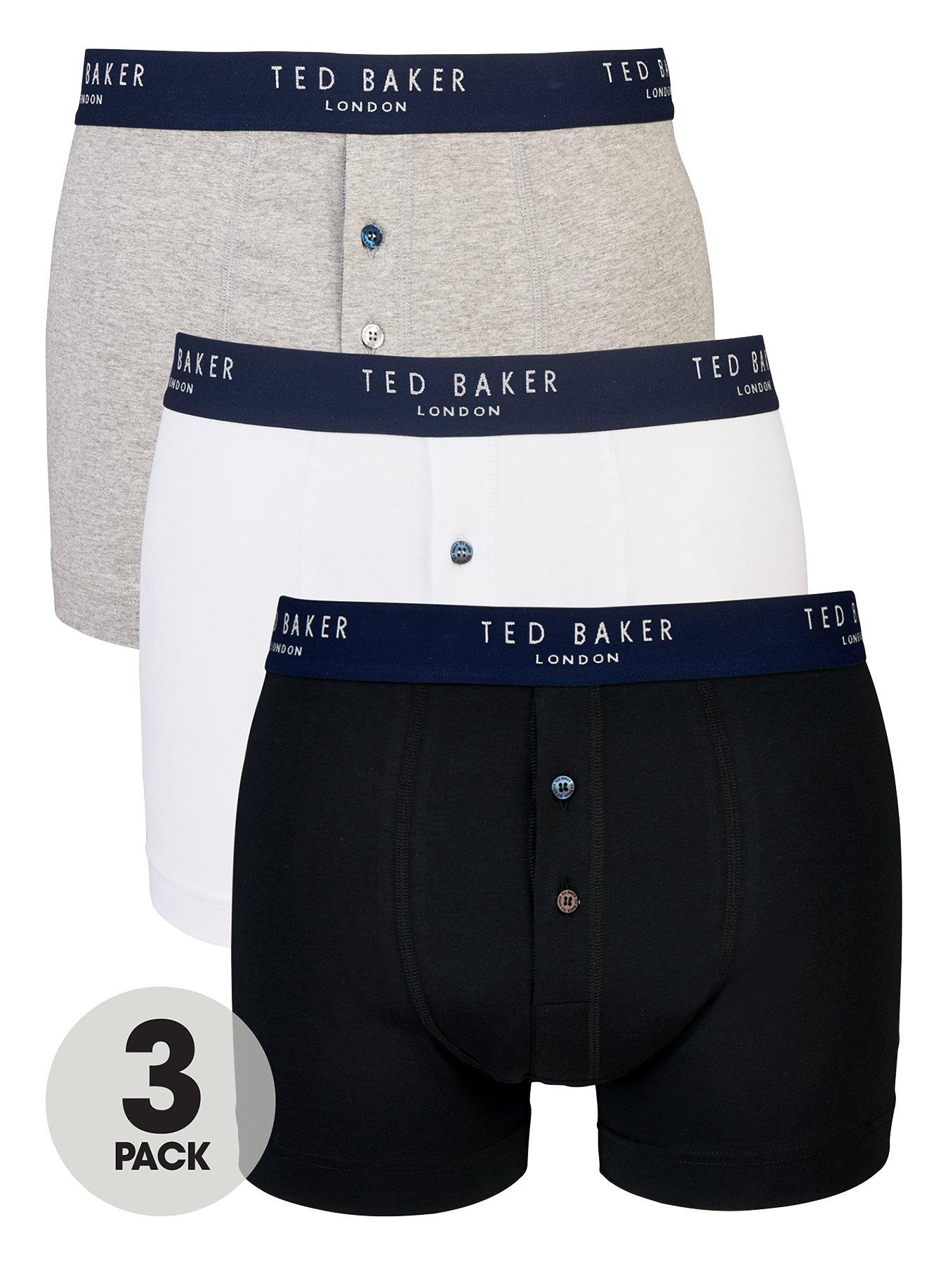 Ted Baker Mens 3 Pack Basic Button Boxers