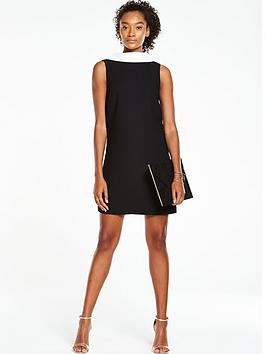 v-by-very-bow-back-shift-dress-black