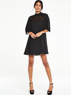 v-by-very-lace-insert-high-neck-dress