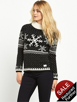 superdry-nordic-ski-snowflake-jumper-blackcream
