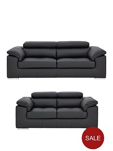 6024ce413d0c Brady 100% Premium Leather 3 Seater + 2 Seater Sofa Set (Buy and SAVE!)