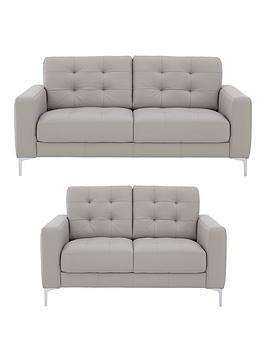 Very Brook Premium Leather 3 Seater + 2 Seater Sofa Set (Buy And Save!) Picture