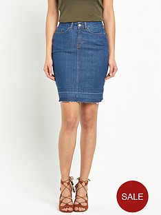 v-by-very-frayed-hem-denim-skirt
