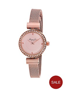 kenneth-cole-kenneth-cole-stone-encrusted-rose-gold-coloured-mesh-bracelet-ladies-watch