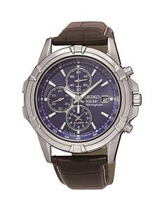 seiko-seiko-solar-blue-dial-chronograph-leather-strap-watch