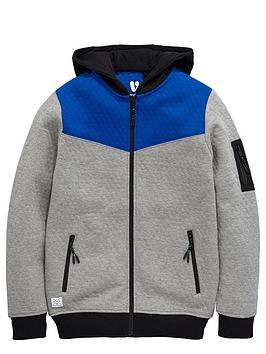 v-by-very-boys-colour-block-textured-zip-through-hoodie