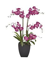 5-stem 3ft Artifical Orchid in Pot – Lilac