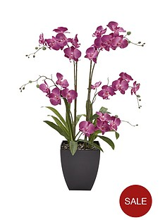 5-stem-3ft-artifical-orchid-in-pot-ndash-lilac