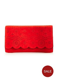 v-by-very-lasercut-floral-clutch-bag-watermelonnbsp