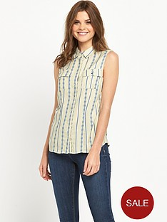 v-by-very-sleeveless-jacquard-stripe-blouse