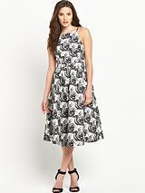 Jacquard Midi Prom Dress
