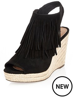 river-island-fringe-wedge-sandal