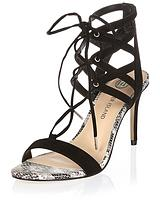 Caged Lace Up Barely There Sandal