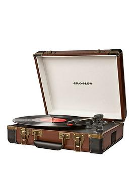 Crosley Executive Portable Turntable  Brown