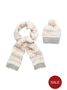 v-by-very-girls-eyelash-knitted-scarfnbspand-hat-set