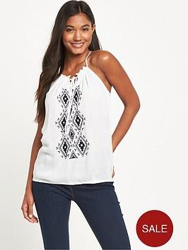 v-by-very-embroidered-halter-neck-crinkle-blouse