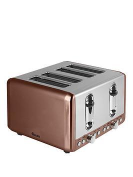 Swan 4Slice Toaster  Copper