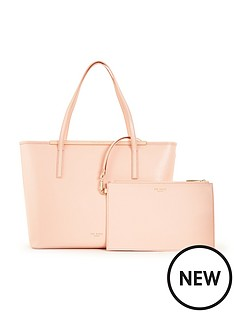 ted-baker-crosshatch-shopper-with-clutch