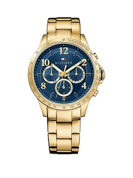 Tommy Hilfiger Tommy Hilfiger Blue Dial Rose Gold Plated Bracelet Ladies Chronograph Watch