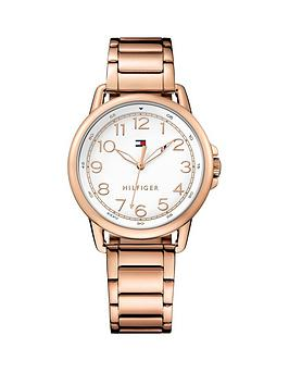 Tommy Hilfiger Tommy Hilfiger Silver Dial Rose Gold Plated Bracelet Ladies Watch