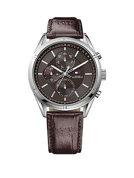 tommy-hilfiger-tommy-hilfiger-black-dial-brown-leather-strap-mens-chronograph-watch