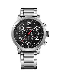 tommy-hilfiger-tommy-hilfiger-black-dial-stainless-steel-bracelet-mens-chronograph-watch