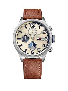 tommy-hilfiger-tommy-hilfiger-cream-dial-blue-highlights-brown-leather-strap-mens-chronograph-watch